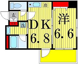 東京都足立区西新井栄町2丁目の賃貸マンションの間取り