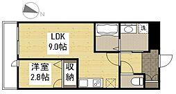 JR山陽本線 福山駅 徒歩21分の賃貸マンション 1階1LDKの間取り