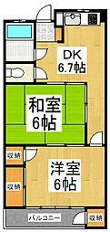 山栄マンション[3階]の間取り