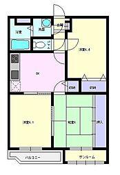 ユーミーマンションフェニックス[2階]の間取り