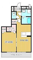埼玉県坂戸市薬師町の賃貸アパートの間取り