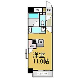 JR中央本線 大曽根駅 徒歩2分の賃貸マンション 6階1Kの間取り