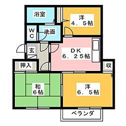 シャトル新田 B棟[2階]の間取り