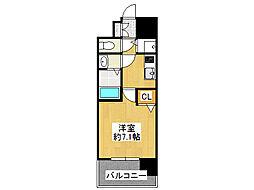 レオンコンフォート難波サウスゲート[3階]の間取り