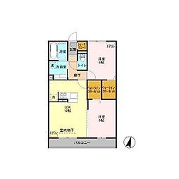 MOTOWN HOUSE(モータウンハウス)[302号室]の間取り