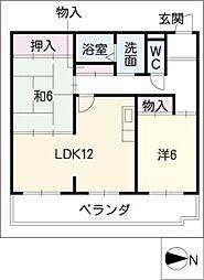 THE TOKUGETU 20[3階]の間取り