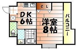コンダクト小倉No.1ビル[205号室]の間取り