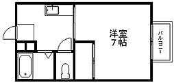 ハウス北斗星[201号室]の間取り