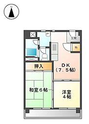 上飯田第2 2号棟[8階]の間取り