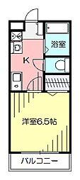 Reiwa1(レイワワン)1K(間取り:Aタイプ) 2階1Kの間取り