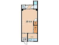 西岡アパートI[1階]の間取り