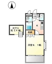 ルフルーブ[2階]の間取り