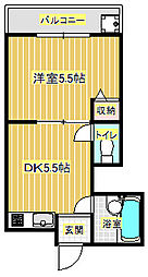 箕面コスモビル[1階]の間取り