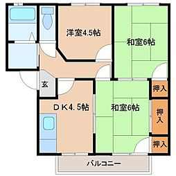 マウンテンビレッジ真木B棟[2階]の間取り