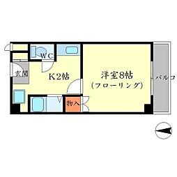 プレステージK[2階]の間取り