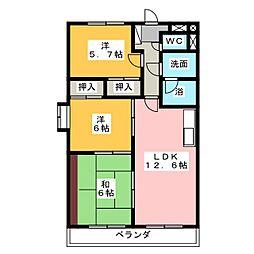 プレミール三郷[5階]の間取り