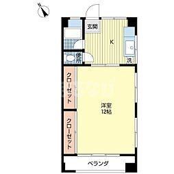 千葉県船橋市西習志野3丁目の賃貸マンションの間取り