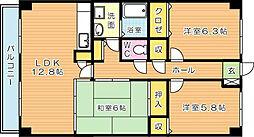 アーバンライフ折尾(特定優良賃貸)[4階]の間取り