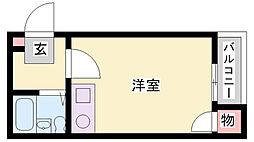 ピエ・タ・テール[104号室]の間取り