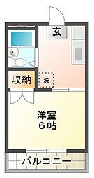 東京都国分寺市内藤2丁目の賃貸マンションの間取り
