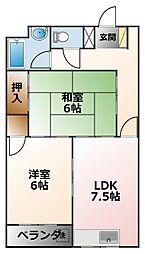 サン甲子園[5階]の間取り