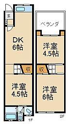 [テラスハウス] 大阪府枚方市走谷2丁目 の賃貸【/】の間取り