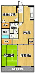 本八幡マンション[5階]の間取り