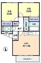 千葉県習志野市東習志野5丁目の賃貸アパートの間取り