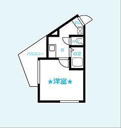 神奈川県横浜市南区榎町1丁目の賃貸アパートの間取り