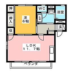 ガーデンハイツA[2階]の間取り