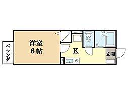 プリシェール華住[1階]の間取り