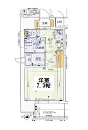 ララプレイス梅田東シエスタ 4階1Kの間取り