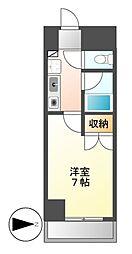 セントラルハイツ安田通[3階]の間取り