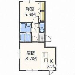 北海道札幌市中央区南十二条西14丁目の賃貸マンションの間取り