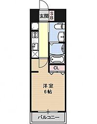 エステムプラザ京都三条大橋[201号室号室]の間取り
