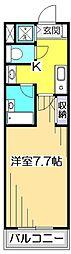 第7千代鶴ビル[8階]の間取り