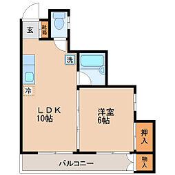 小田原深松マンション[2階]の間取り