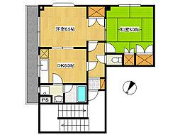 キャッスル東京[3階]の間取り