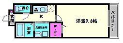 京橋イーストガーデン[2階]の間取り