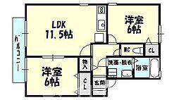 [タウンハウス] 福岡県糟屋郡志免町別府1丁目 の賃貸【/】の間取り