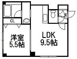 アルカディア白石弐番館[2階]の間取り