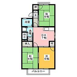 トゥインクルK B棟[2階]の間取り