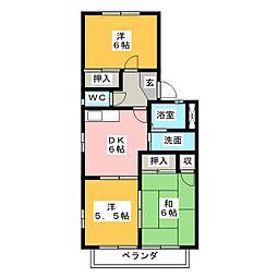 サンメリーII[2階]の間取り