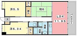 フローラハイム[3階]の間取り