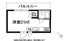 牧之原市榛南ビル4階[C号室号室]の間取り
