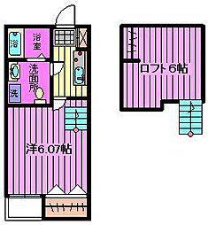 Prime Suite S[1階]の間取り