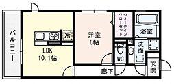 ロイヤル西野山[206号室号室]の間取り
