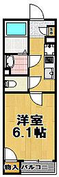 レオネクストキューブ西九条[1階]の間取り