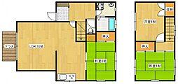 [タウンハウス] 福岡県久留米市江戸屋敷2丁目 の賃貸【/】の間取り