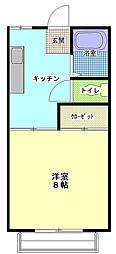 茨城県ひたちなか市大字高場の賃貸アパートの間取り